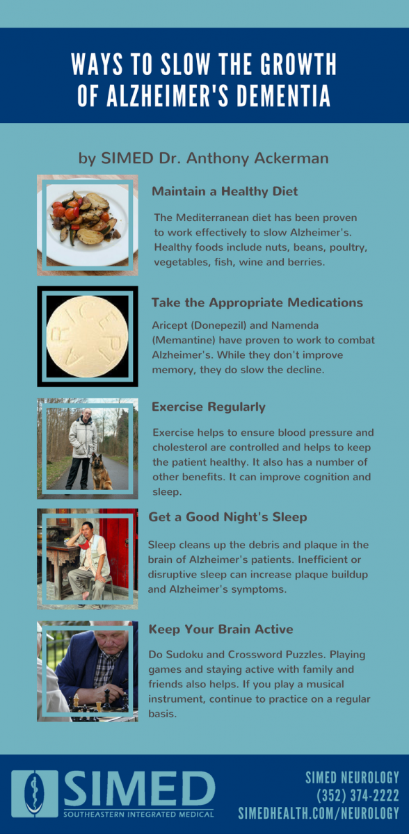 Alzheimer's Infographic with tips for people with dementia