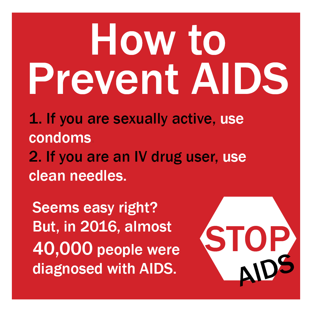 Graphic on how to prevent aids with stop sign