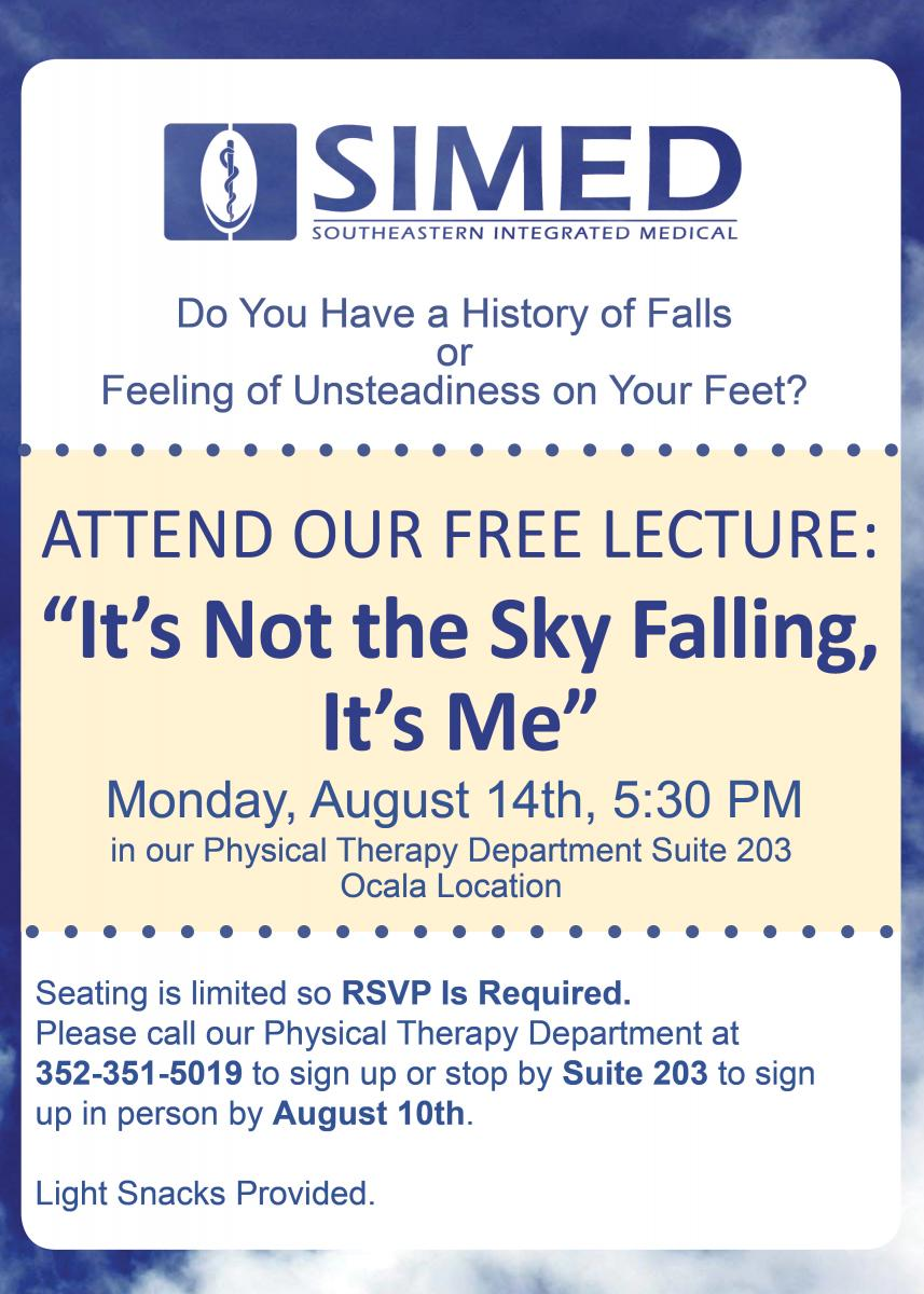 SIMED Flyer for Free Physical Therapy Lecture