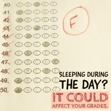 New study shows sleeping during the day could be affecting school performance and grades