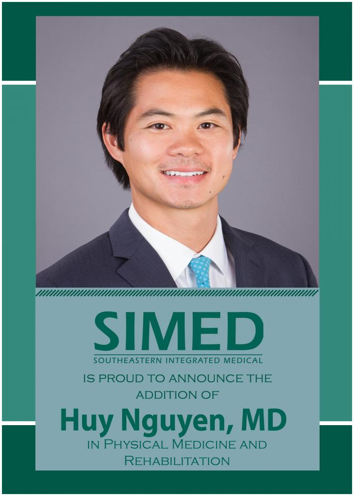 SIMED welcomes Dr. Huy Nguyen to the SIMED Rehabilitation Medicine team in Ocala.